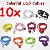여성에게 다채로운 USB 데이터 케이블 여성 또는 남성에게 남성
