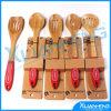 Natuurlijk Bamboe het Koken van het Werktuig van de Keuken van 5 Stuk Reeks