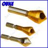 高品質錫上塗を施してあるHSSは穴あけ工具をさら穴を開ける