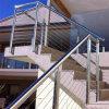 2017 Un moderno diseño fácil de instalar el cable de tensión de cable de acero inoxidable pasamanos para escaleras