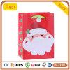 Sac de papier de vieil homme de Noël de cadeau rouge du sabot