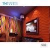 レストランまたはホテルのための水補強のポリエステル線維の内部の装飾的な3D音響のボード