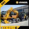21 Ton 0,86 Cbm cuchara excavadora de ruedas diesel hidráulicas xe210W