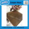 Arte de vidrio de color marrón oscuro con el Metal Net