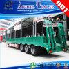 3 Semi Aanhangwagen van het Bed van assen 100ton de Lage voor Nigeria