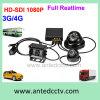 Sistemas vivos do CCTV do carro de 3G/4G WiFi 4CH com seguimento do GPS