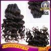 Italityの巻き毛のバージンの人間の毛髪の織り方のバージンのインド人の毛