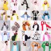 Pijamas adultos animais sexy de Onesie do traje por atacado de Cosplay do Anime do velo do inverno, pijamas de Onesie dos miúdos