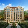 Het buiten Woon Architecturale Teruggeven met Franse Stijl