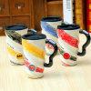 De liga van de Kop van Legenden schilderde de Ceramische Spiraalvormige Kop van de Mok 500ml