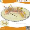 Structure en acier de plein air de l'escalade avec toboggan pour les enfants