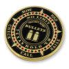 Rocket Aces монетка сувенира эмали логоса покера пуль мягкая