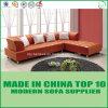 現代家具一定L形の革コーナーのソファー