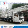 트럭에 의하여 거치되는 우물 드릴링 기계 BZC350