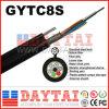 공중 덕트 응용을%s 좌초된 철강선 섬유 광학적인 GYTC8S 케이블