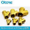 Tamiz de cobre amarillo de la válvula Y del filtro