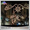 De Decoratie van openlucht LEIDENE Kerstmis van de Vakantie over Straatlantaarn