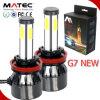 80W 8000lm G7 G20 Chips de sabugo H4 H11 9004 Hb3 Hb4 4 lados luz automática 6000K Farol de LED para carro