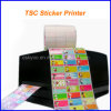 Tsc-Drucker-Namen-Aufkleber-Eisen auf Kennsatz mit spezieller Software