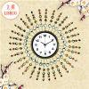 Lishuo Especiales Contratado Moda Moderna Decoración del Hogar, Set de hierro forjado Auger Art Clock Creative Personalidad Sala de estar Reloj de pared, relojes y relojes