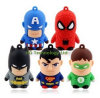 Top Quanlity PVC bonito Superman dos desenhos animados USB Flash Drive (UBS-028)