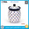 Vaso fatto a mano del caffè dello zucchero del vaso di memoria di Ceramoic della cucina della Cina