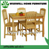 Mobília contínua da madeira de pinho que janta o jogo (W-1-2)