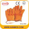 De gele Handschoen van het Werk van de Winter van de Veiligheid van de Hand van het Leer van de Zweep Gespleten Industriële Warme (11302)