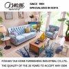 Mobília azul M3009 do hotel do sofá da tela da cor do estilo clássico