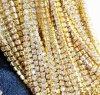 水晶ラインストーンの終わりの鎖のゆとりのトリムの縫うクラフト2mmの金カラー