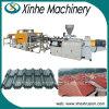Chaîne de production glacée par PVC/ASA/PMMA d'extrusion de tuile de toit/ligne d'extrusion