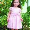 Fabricado na China bela flor vestido de menina de 7 anos de idade