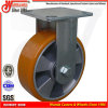 Laufkatze-Fußrolle PU der Handhochleistungs4 auf Aluminiumrad