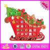 2016 calendari di legno all'ingrosso di avvenimento, calendario di legno di avvenimento degli alberi di Natale, calendario di legno divertente W02A171 di avvenimento