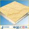 Panneau de marbre en pierre jaune ensoleillé normal de nid d'abeilles pour la décoration d'intérieur