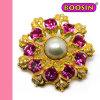 형식 보석 최신 판매 금 진주 모조 다이아몬드 브로치 5758