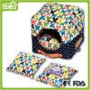 Qualitäts-Blumenmuster-beweglicher quadratischer Haustier-Hund House&Bed