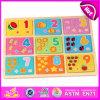 2015 puzzle di legno di per la matematica dei capretti educativi del giocattolo, puzzle di legno di numero del gioco dei bambini, giocattolo di legno W14c234 di puzzle di per la matematica di alta qualità