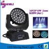 36*10W RGBW 4in1 LED waschender beweglicher Kopf für Stadium (HL-005YS)
