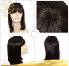 Pleine perruque de lacet de cheveux humains de Vierge