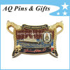 3D Military Coin met Enamel in Gold Plating
