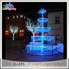 Indicatore luminoso di motivo della fontana delle decorazioni 3D della via commerciale di natale