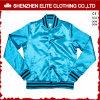 Оптовые изготовленный на заказ куртки бейсбола сатинировки голубые