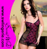 Print gentil Babydoll Lingerie avec Bow Sexy Lace Chemise Nightwear 6159