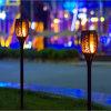 Noël torche lumière solaire utilisé pour le jardin de la pelouse de la lampe solaire ABS