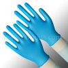 Устранимые голубые перчатки винила, перчатки рассмотрения винила