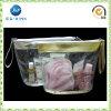 Sac cosmétique en plastique de PVC d'espace libre transparent de ventes en gros avec la tirette (JP-plastic033)