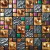 Mosaico de cristal de oro del arte del azulejo material casero de Builidng (VMW3624)
