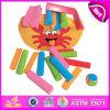 Комплект игрушки малыша баланса нового деревянного блока 2014 установленный, популярная симпатичная игра игрушки малыша баланса, игрушка W11f037 малыша баланса горячей игры сбывания деревянная