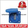 Enchufe francés/belga de IP54 de potencia de socket